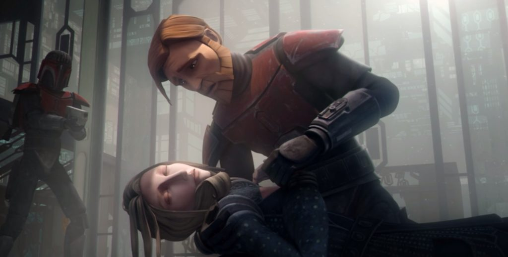 Satine killed by Maul with the darksaber