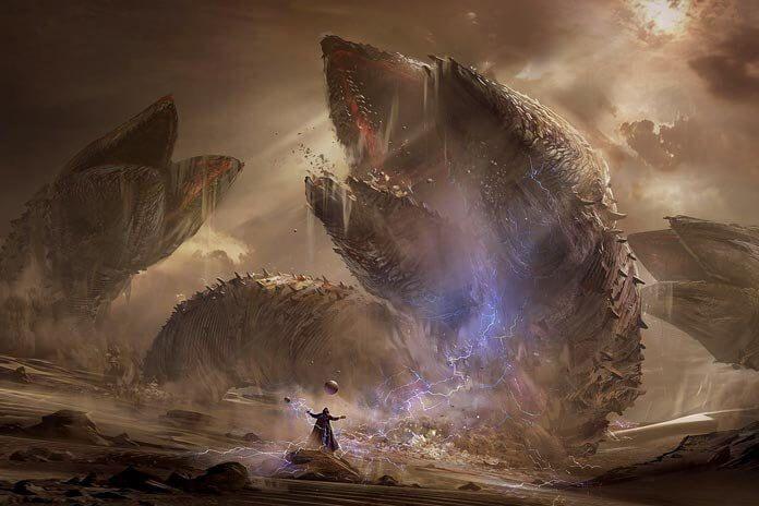 Dune sandworms. No darksaber, but anyway...