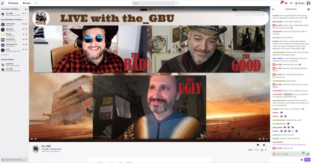 a frame from the GBU streaming on twitch